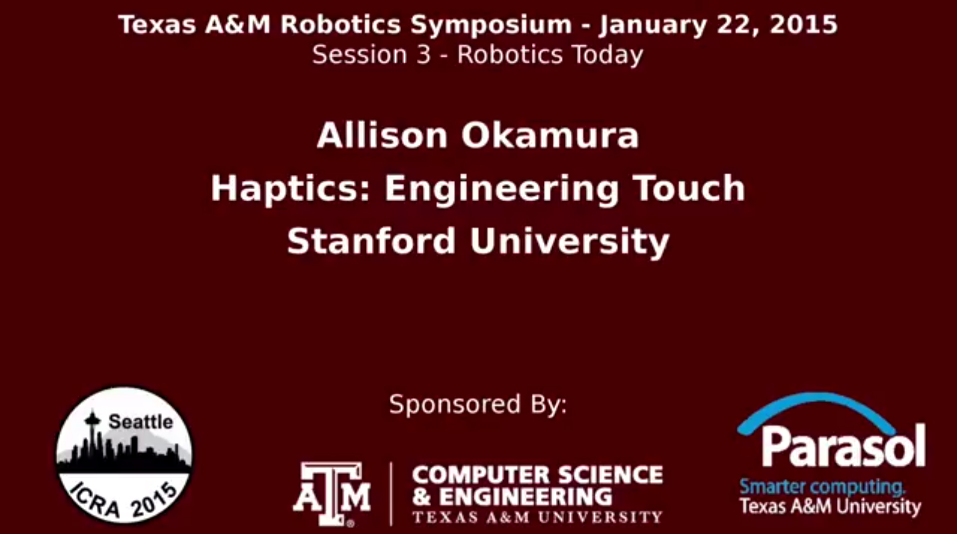 Texas A&M Robotics Symposium
